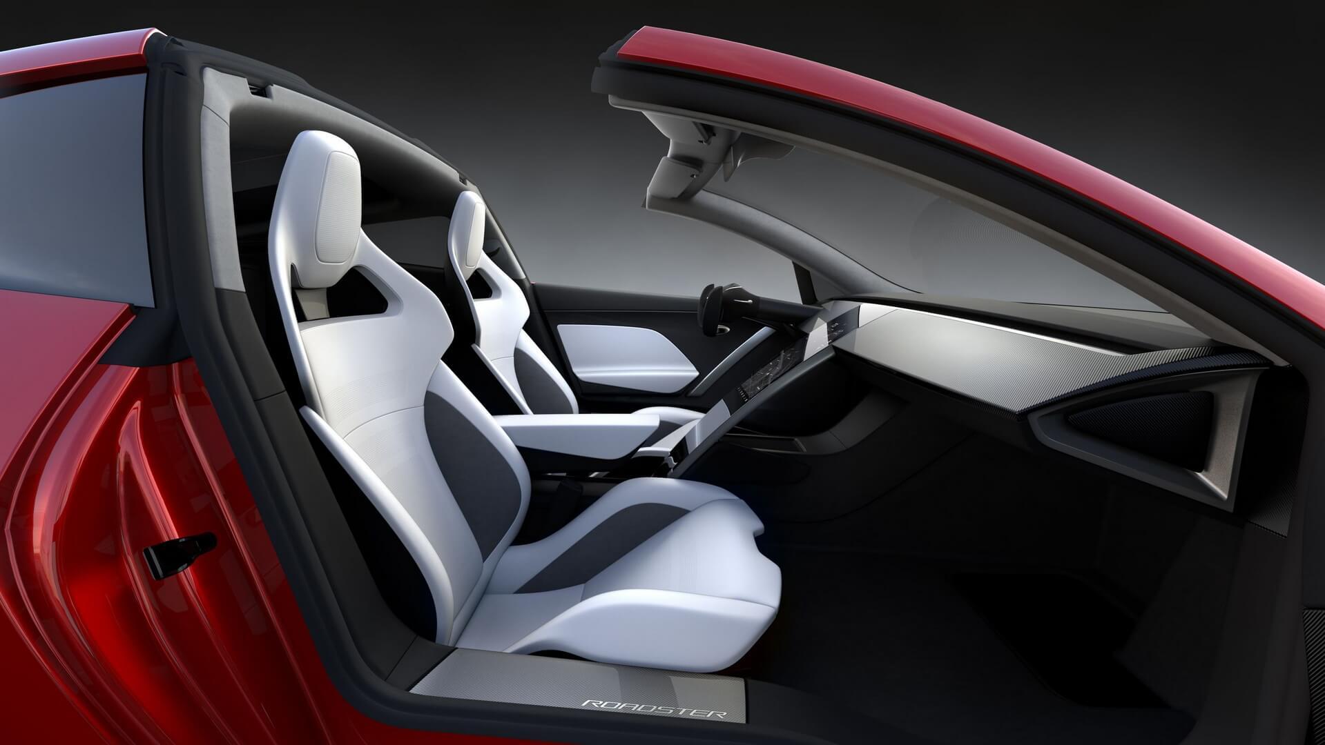 Салон електромобіля Tesla Roaster 2
