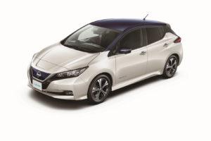 Електромобіль Nissan Leaf 2018 — колір black & silver