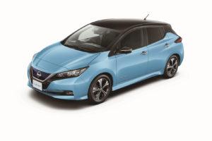 Електромобіль Nissan Leaf 2018 — колір blue