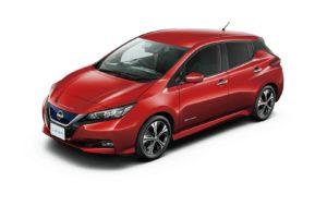 Електромобіль Nissan Leaf 2018 — колір red