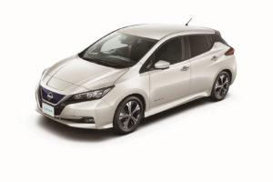 Електромобіль Nissan Leaf 2018 — колір silver