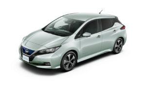 Електромобіль Nissan Leaf 2018 — колір white