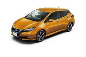 Електромобіль Nissan Leaf 2018 — колір yellow