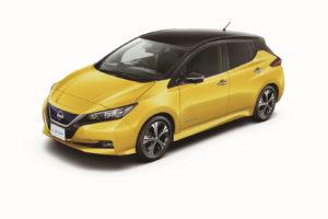 Електромобіль Nissan Leaf 2018 — колір yellow & black