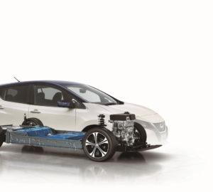 Розміщення батареї Nissan Leaf 2018