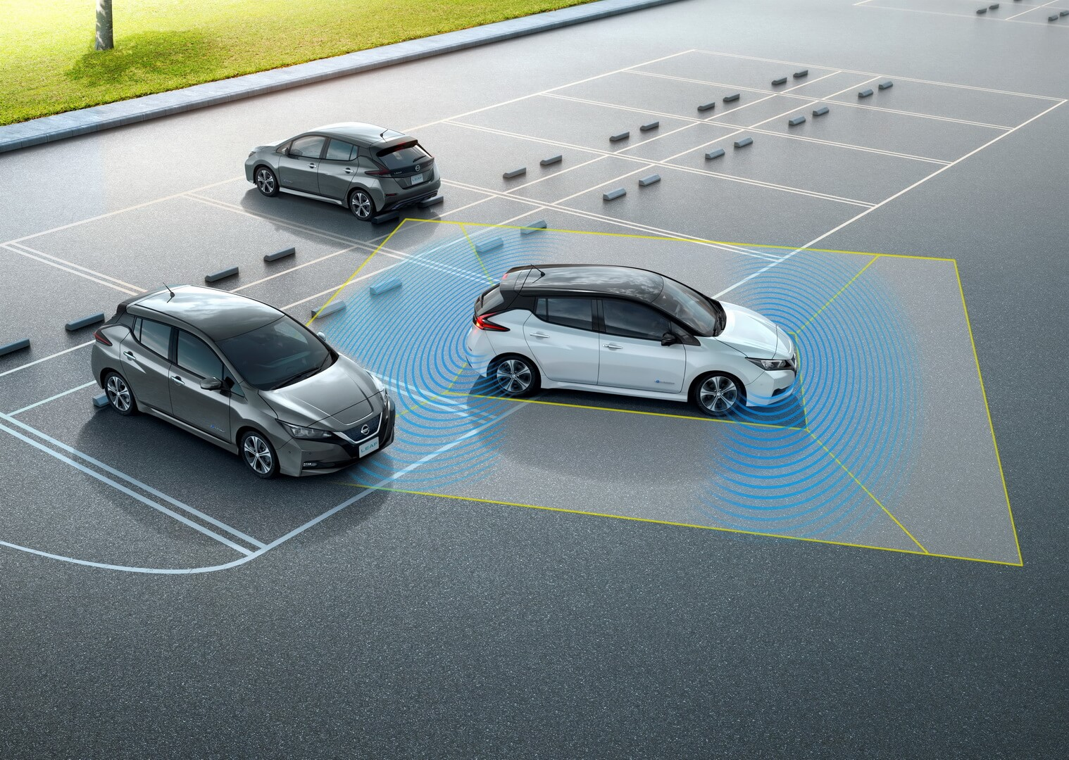 Автопаркування з системою ProPilot Park в Nissan Leaf 2018