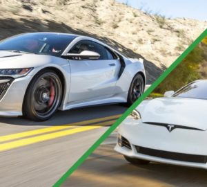 Tesla Model S P100D проти Acura NSX