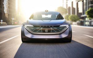 Концепт автономного електричного седана BYTON K-Byte— вид спереду