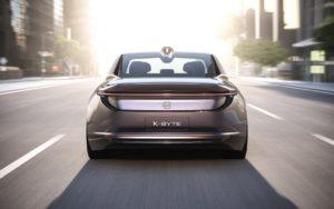 Концепт автономного електричного седана BYTON K-Byte— вид ззаду