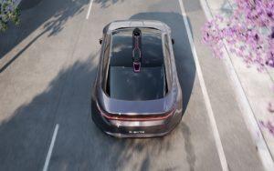 Концепт автономного електричного седана BYTON K-Byte— вид зверху