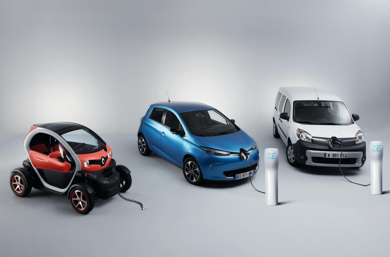 Електромобілі Renault Twizy, ZOE, Kangoo Z.E.