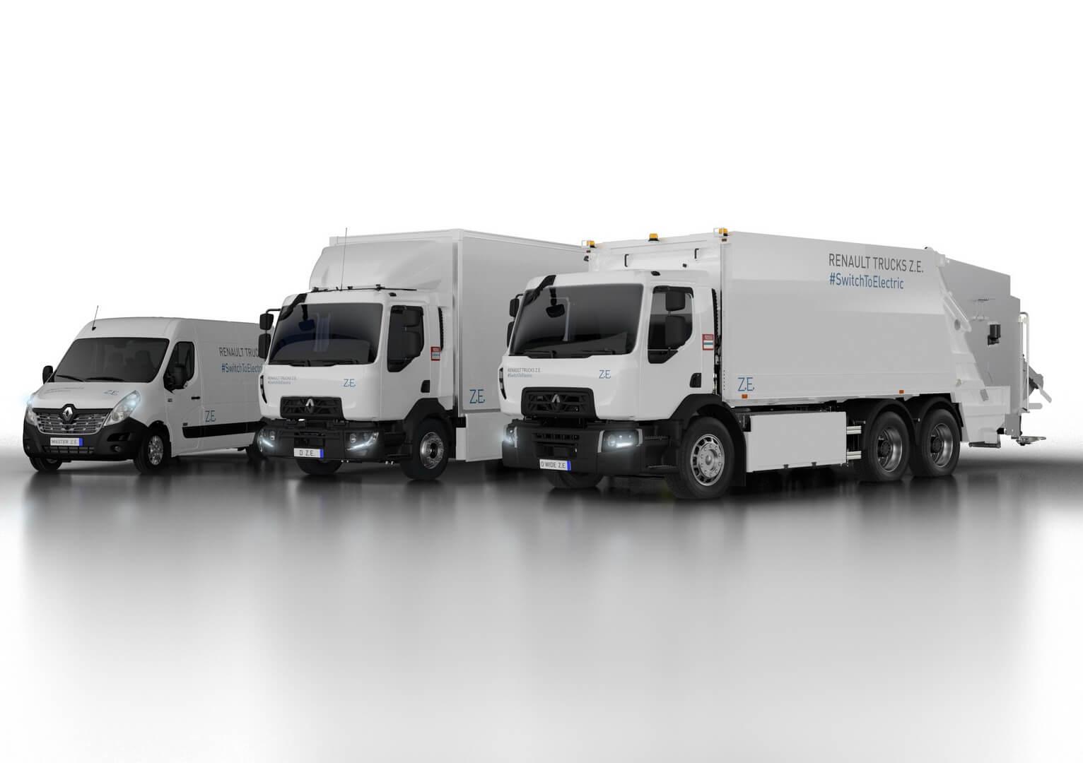 Електричні вантажівки: Renault Master Z.E., Renault Trucks D Z.E., та Renault Trucks D Wide Z.E.