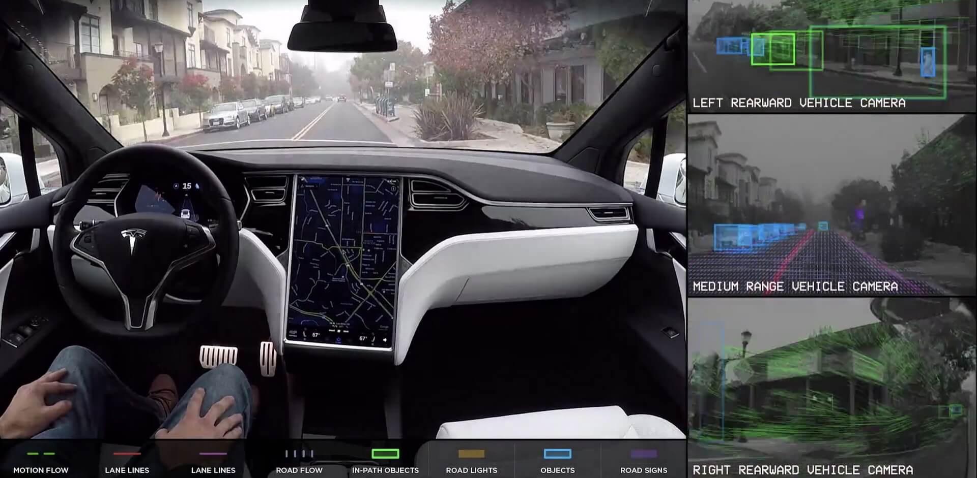 Камери автопілота електромобілів Tesla