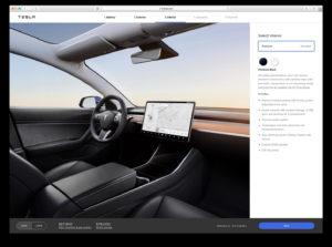Онлайн-конфігуратор Tesla Model 3— салон