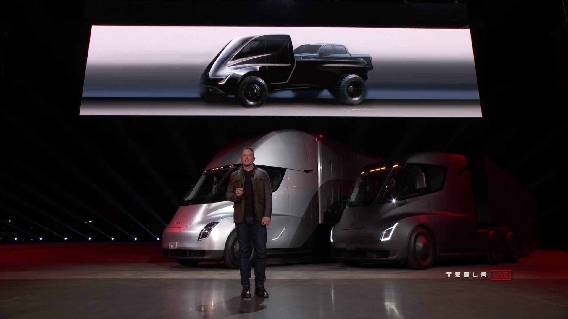Tesla Pickup Truck на презентації Tesla Semi