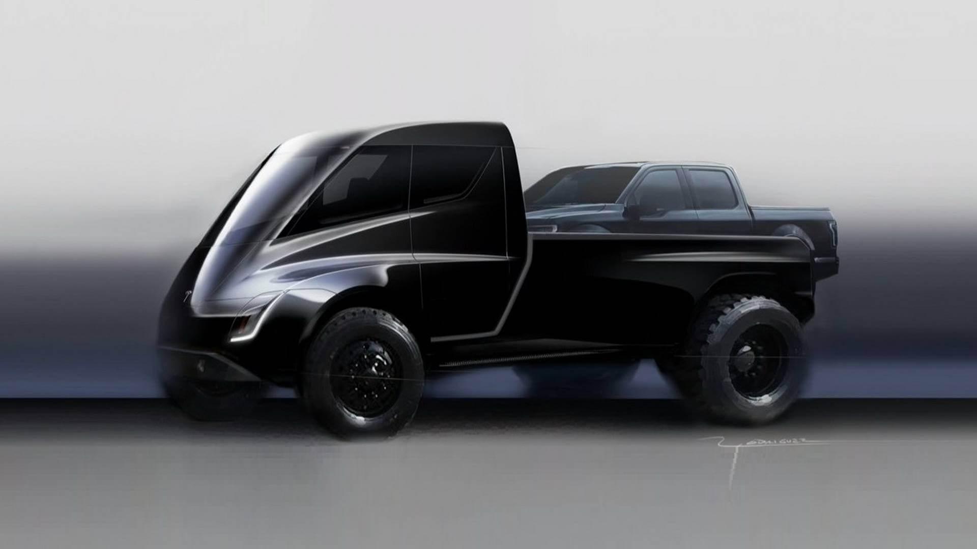 Можливий дизайн пікапу Tesla