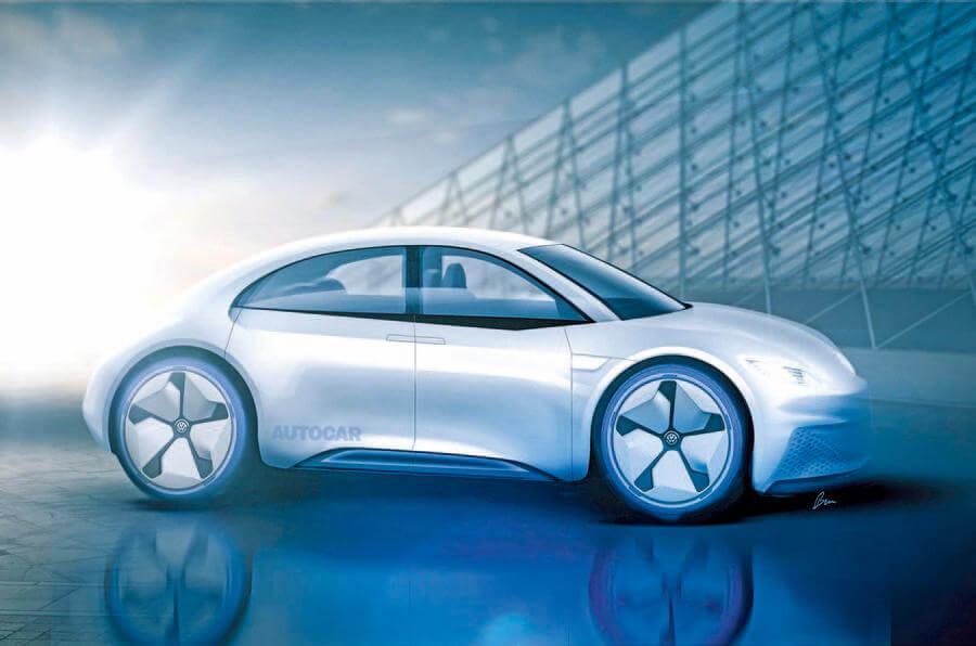 Можливий дизайн майбутнього електромобіля Beetle EV