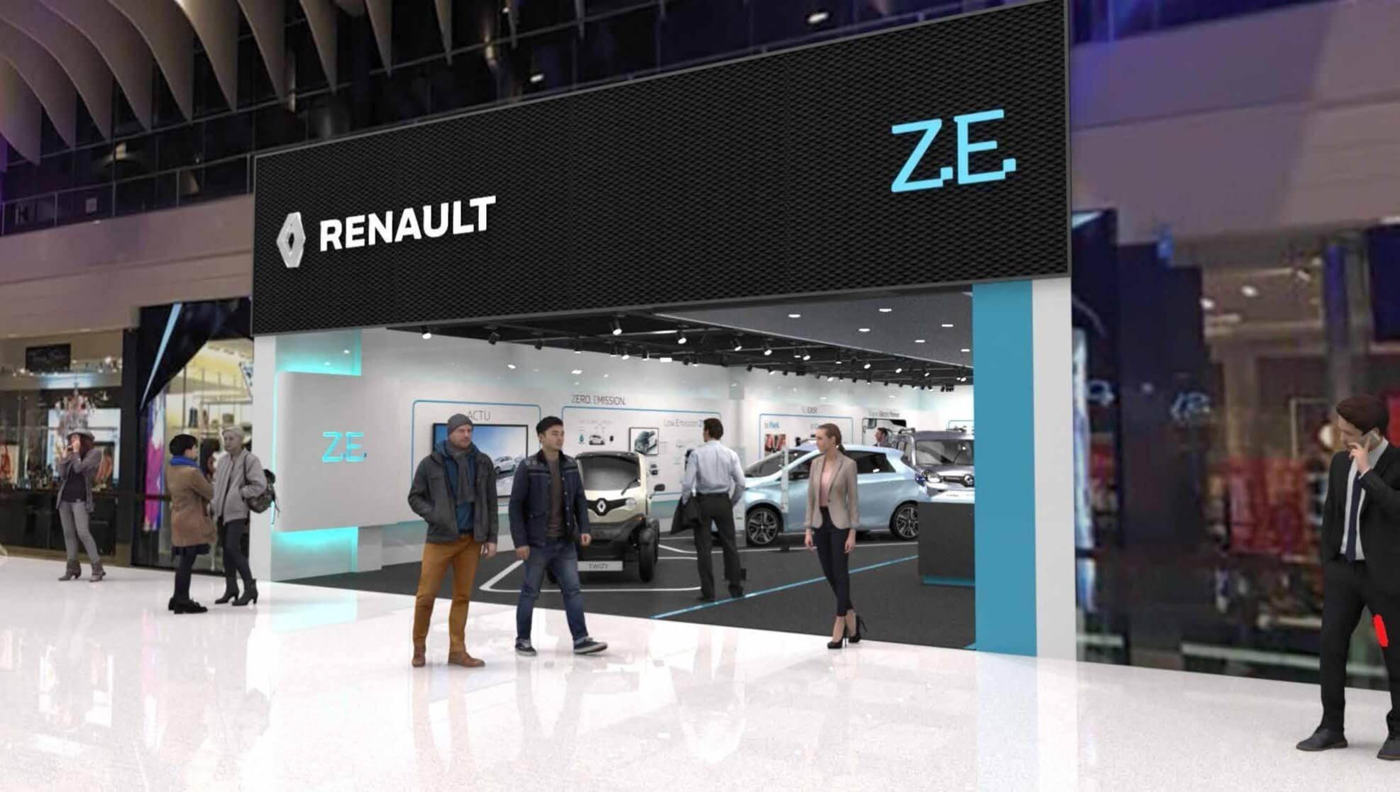 Спеціалізований магазин електромобілів Renault