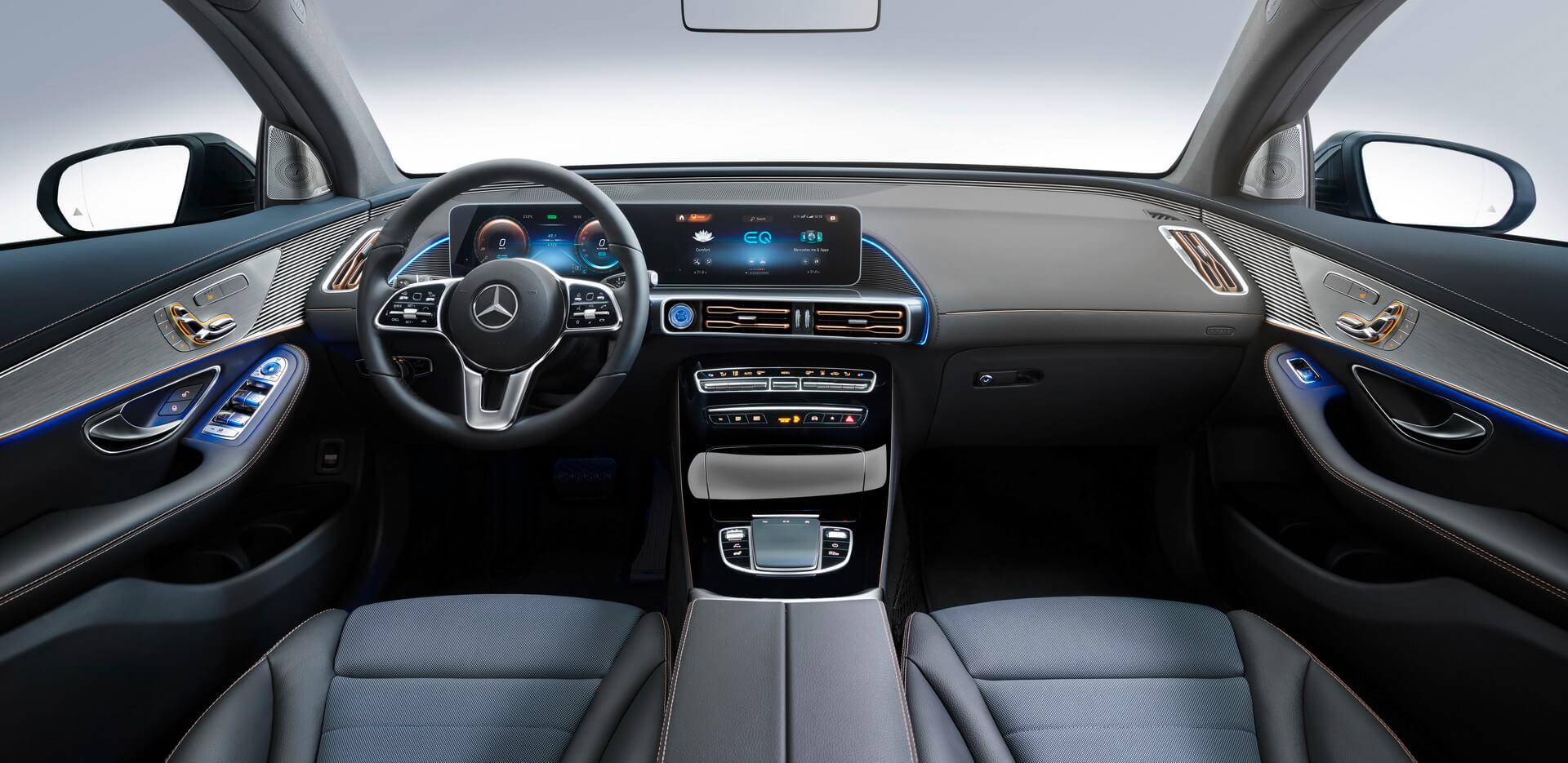 Цифрова приладова панель Mercedes-Benz EQC