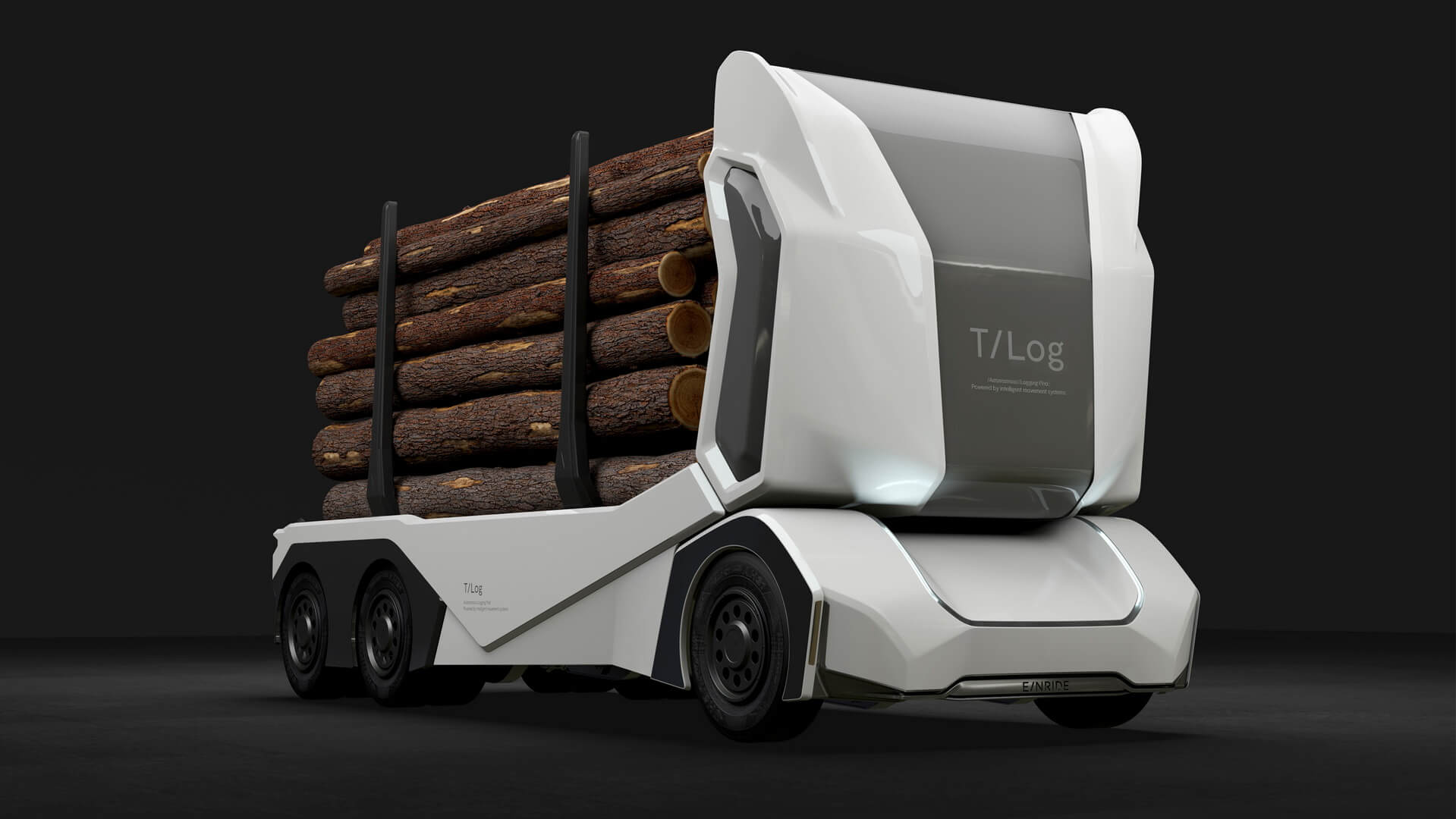 T/log— повністю електрична автономна вантажівка без кабіни для водія