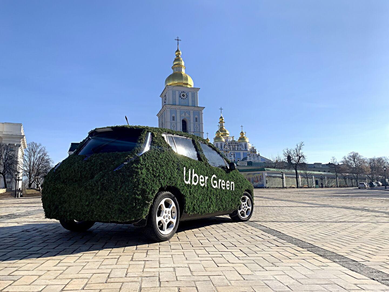 Uber Green на електромобілях почав працювати в Києві