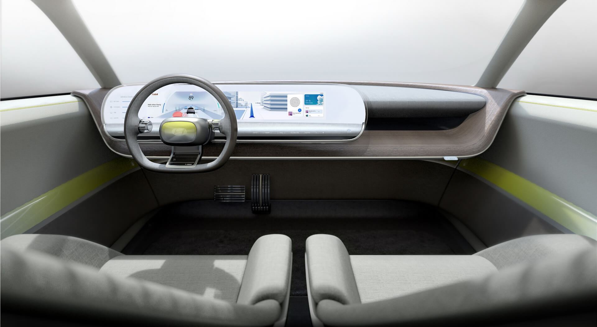 В інтер'єрі електромобіля все побудовано навколо ідеї персоналізації дизайну і функціональності