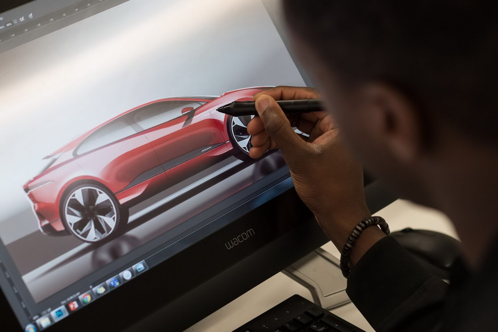 Опрацювання дизайну електромобіля Jaguar I-Pace