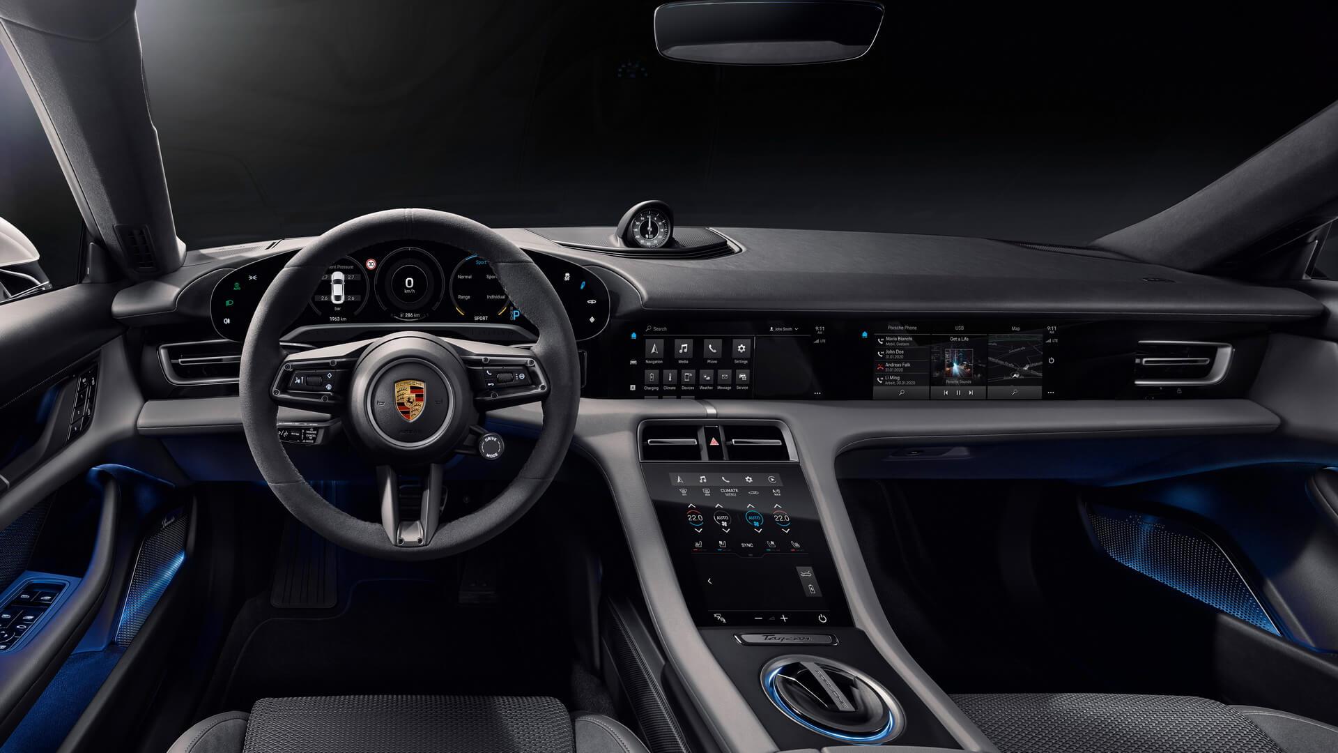 Дизайн інтер'єру Porsche Taycan