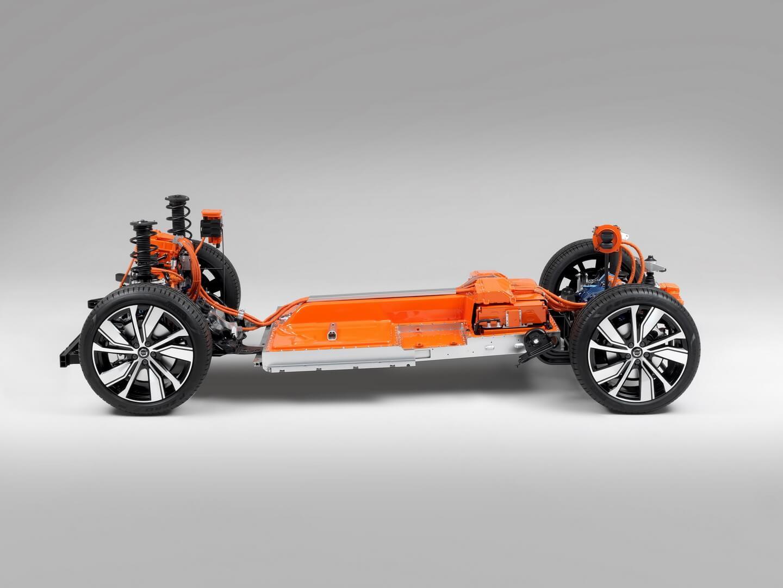 Електрична платформа електромобіля Volvo XC40