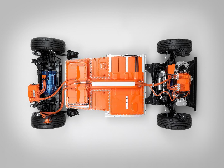 Вигляд силової установки електромобіля Volvo XC40