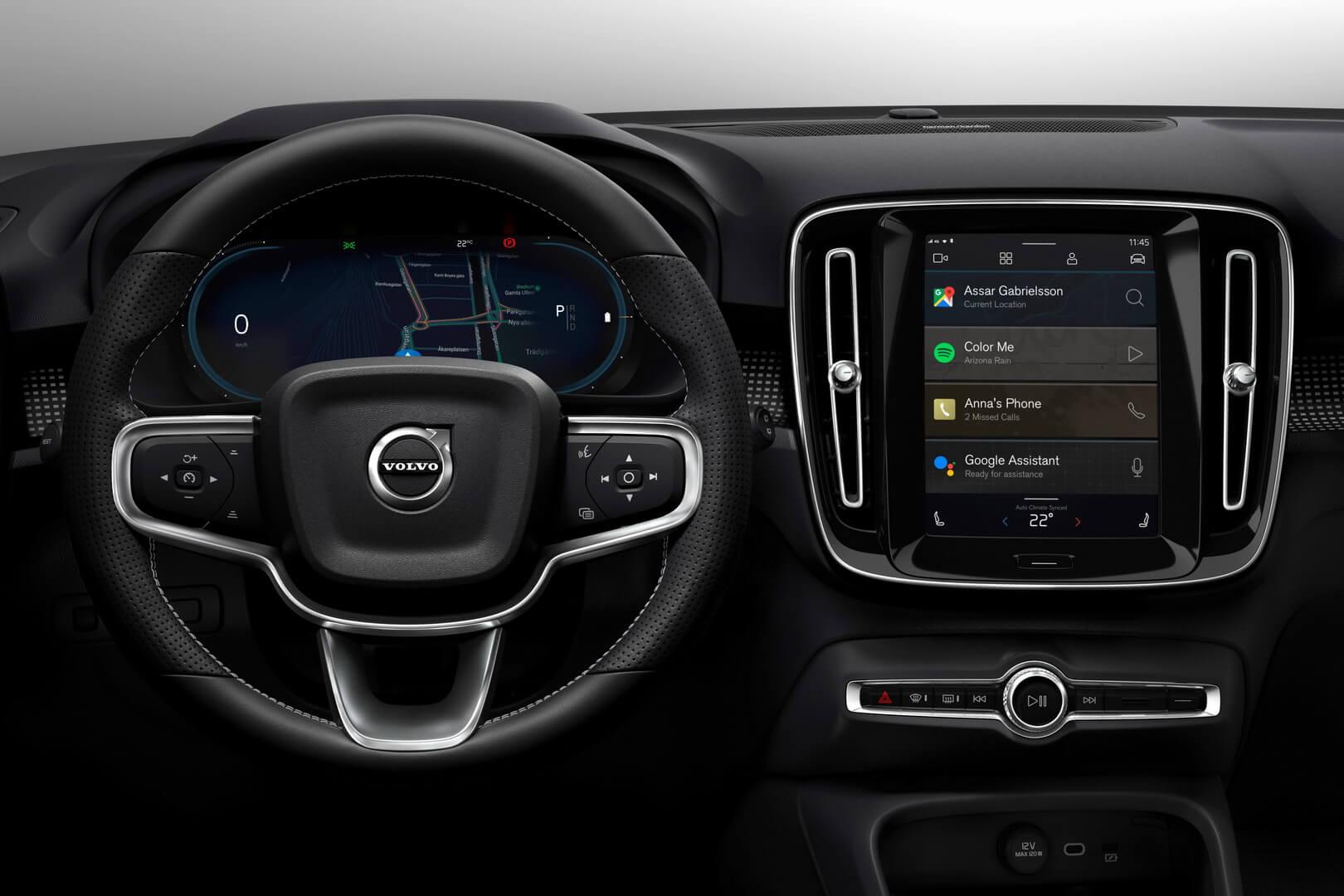 Нова інформаційно-розважальна система в Volvo XC40 на базі Android з вбудованими технологіями Google