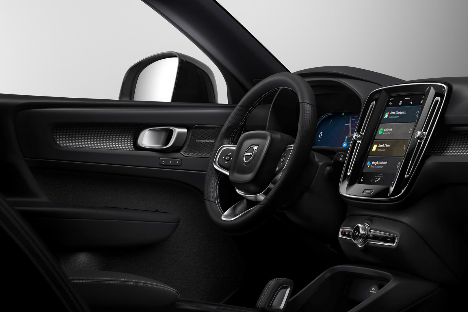Інтер'єр салону майбутнього електромобіля Volvo XC40