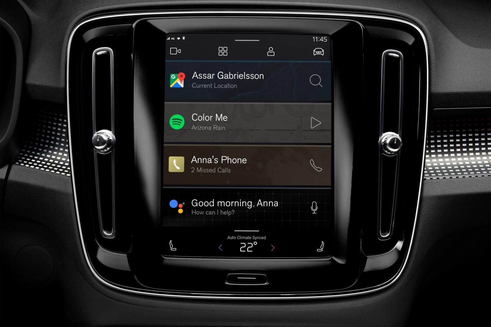 Електрична версія XC40 дебютує з інформаційно-розважальною системою на базі Android