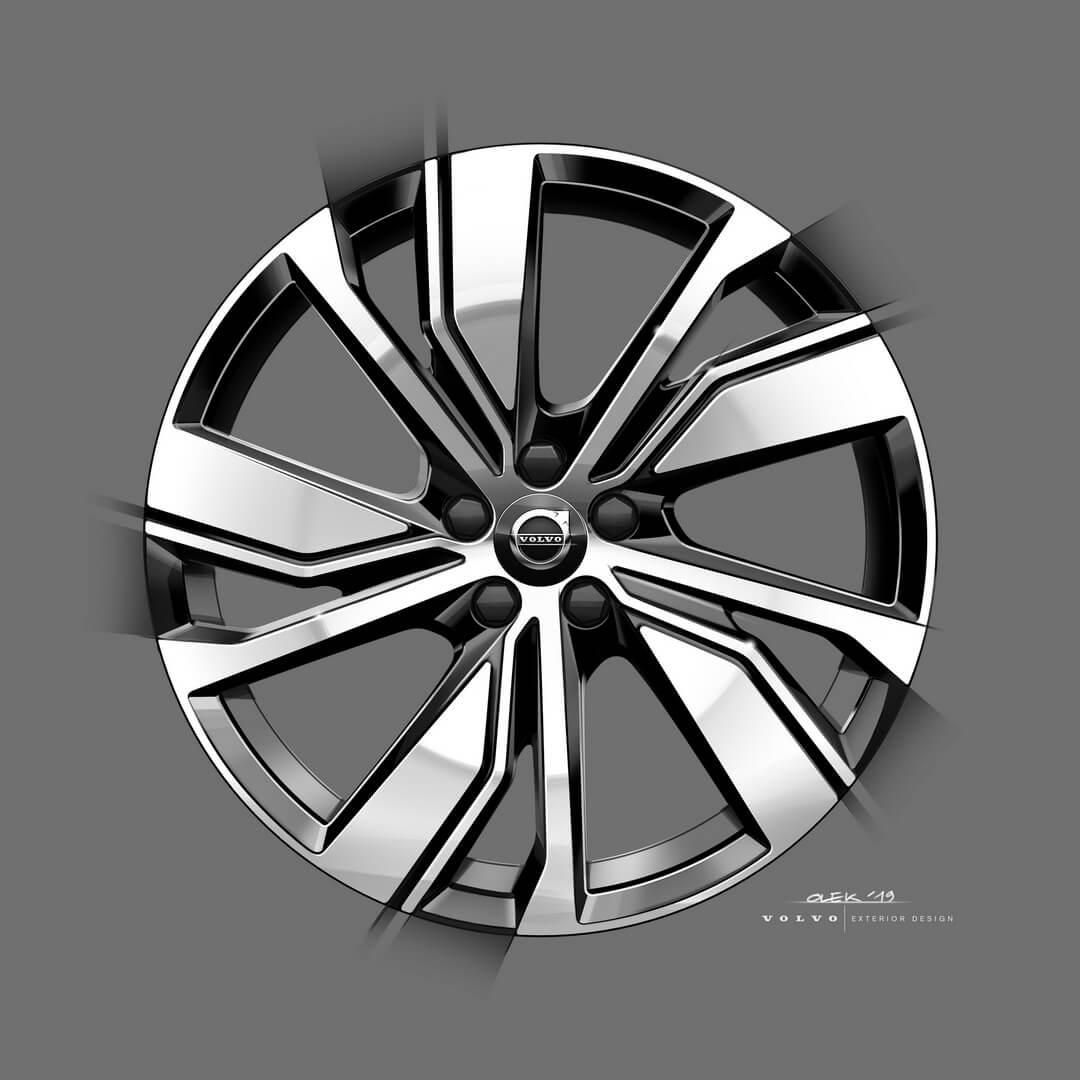 Нові варіанти колісних дисків для електричного Volvo XC40