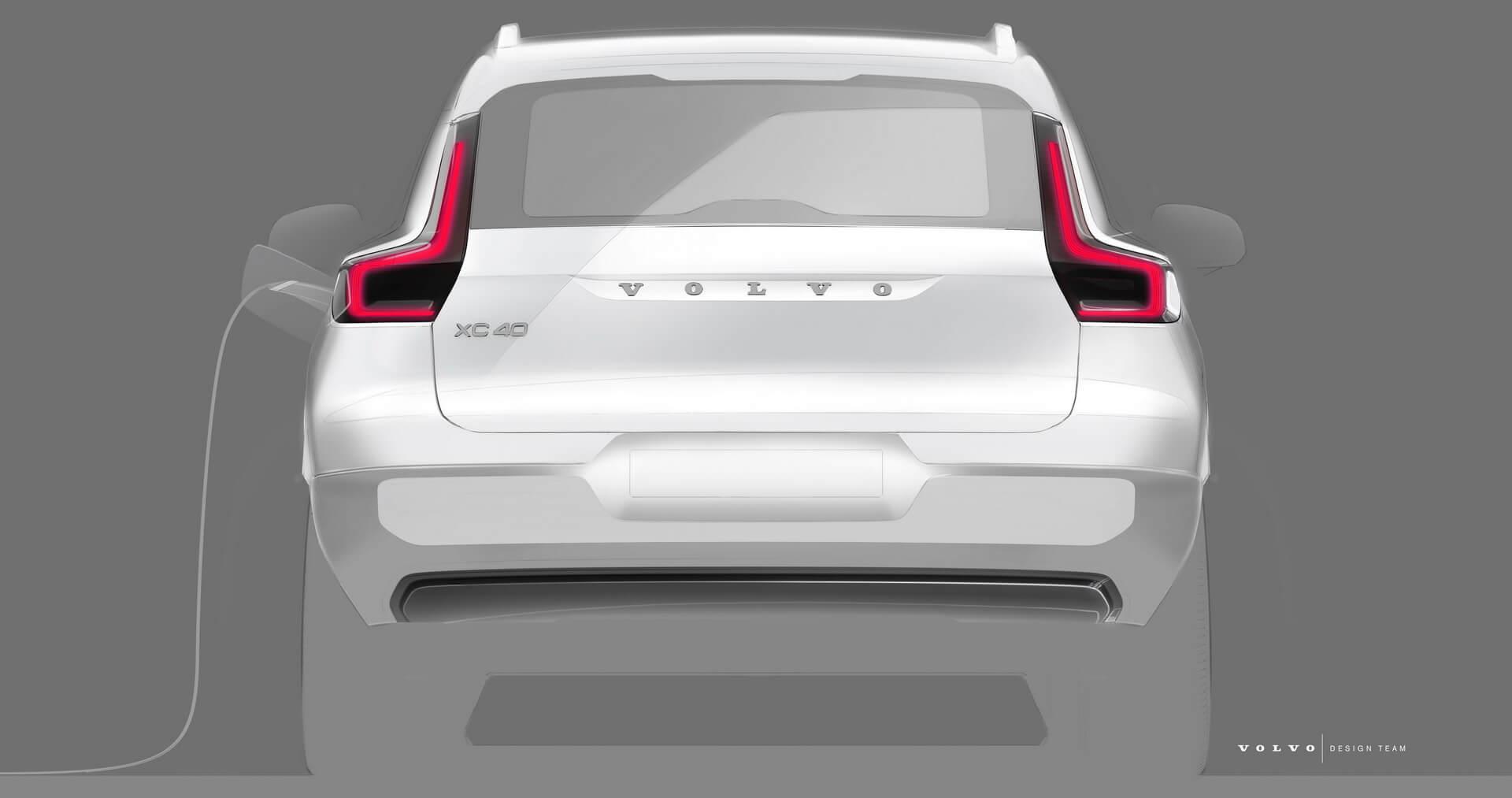 Тизер електричного кросовера Volvo XC40