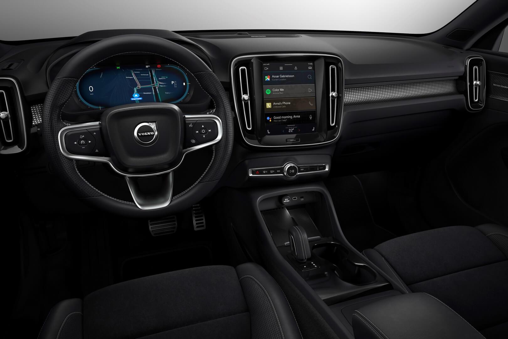 Інтер'єр електромобіля Volvo XC40 Recharge