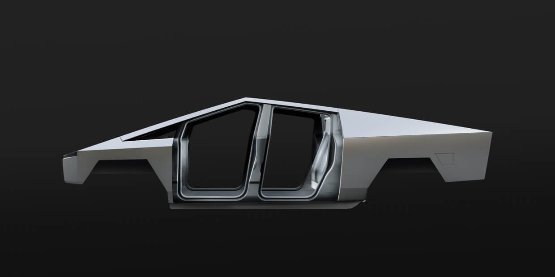 Каркасна конструкція електропікапа Tesla Cybertruck