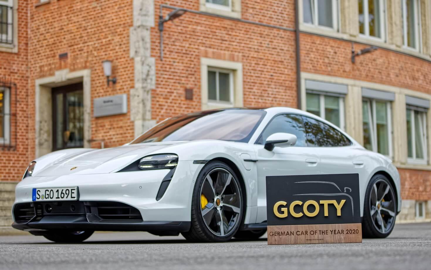Porsche Taycan визнано автомобілем року уНімеччині