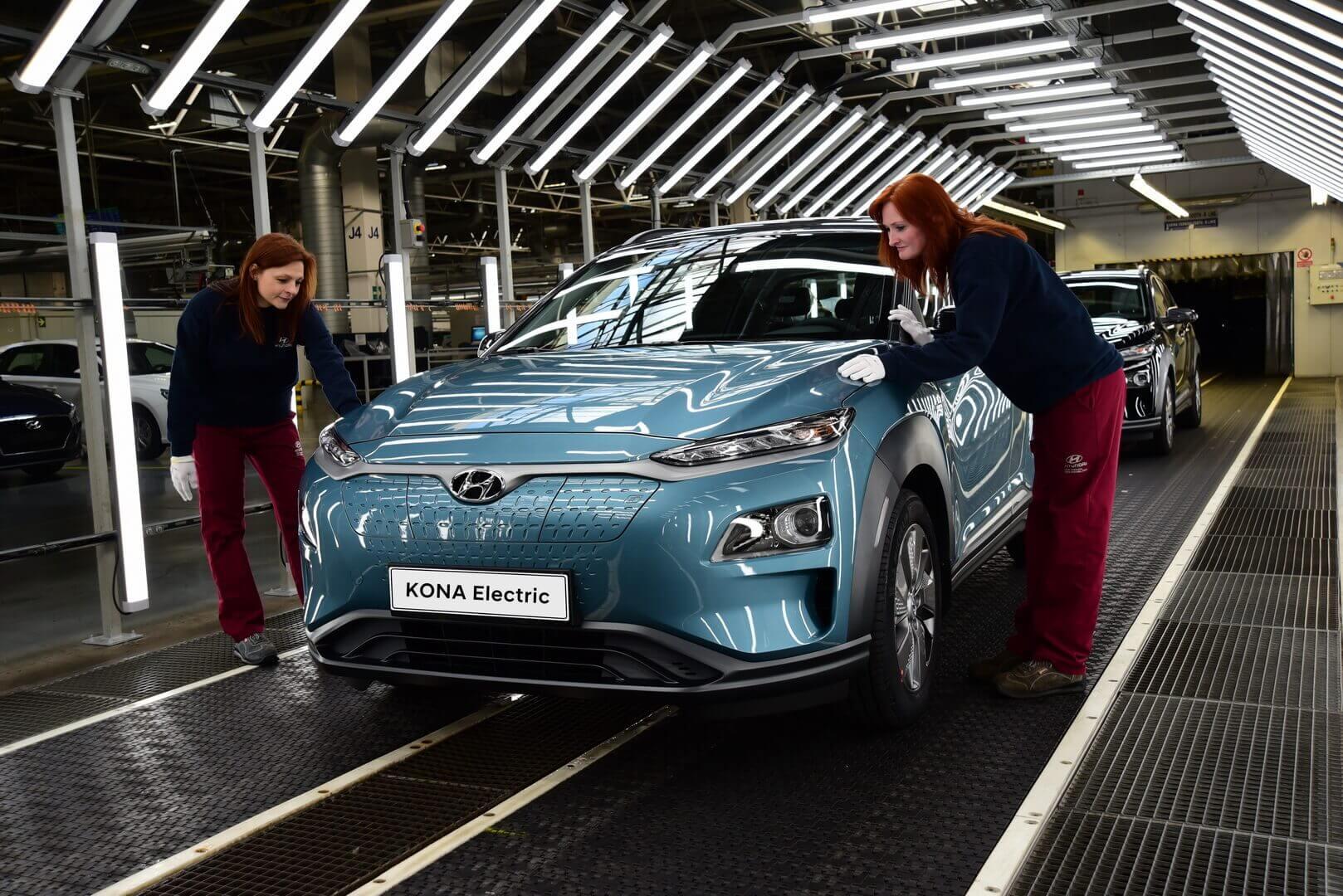 Hyundai Motor відкриває виробництво електрокросоверу Kona Electric вЄвропі