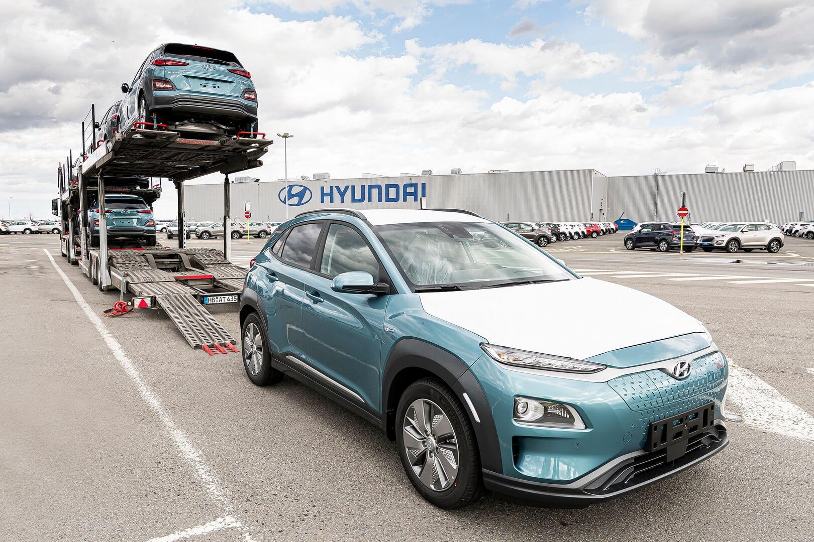 Перша партія Hyundai Kona Electric поставляється з європейських заводів