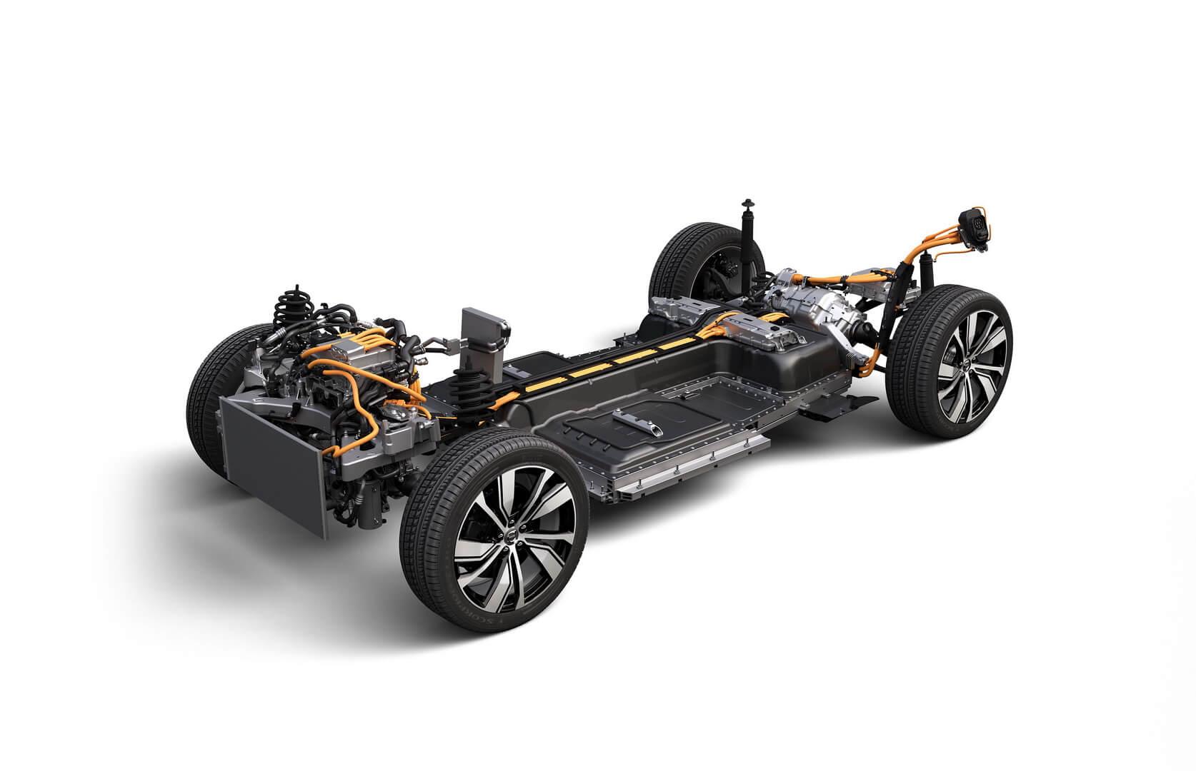 Силова установка електричного кросоверу Volvo XC40 Recharge
