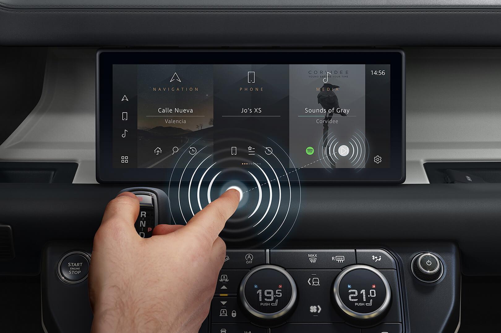 Jaguar Land Rover розробив технологію «передбачуваний дотик» для сенсорних екранів автомобілів