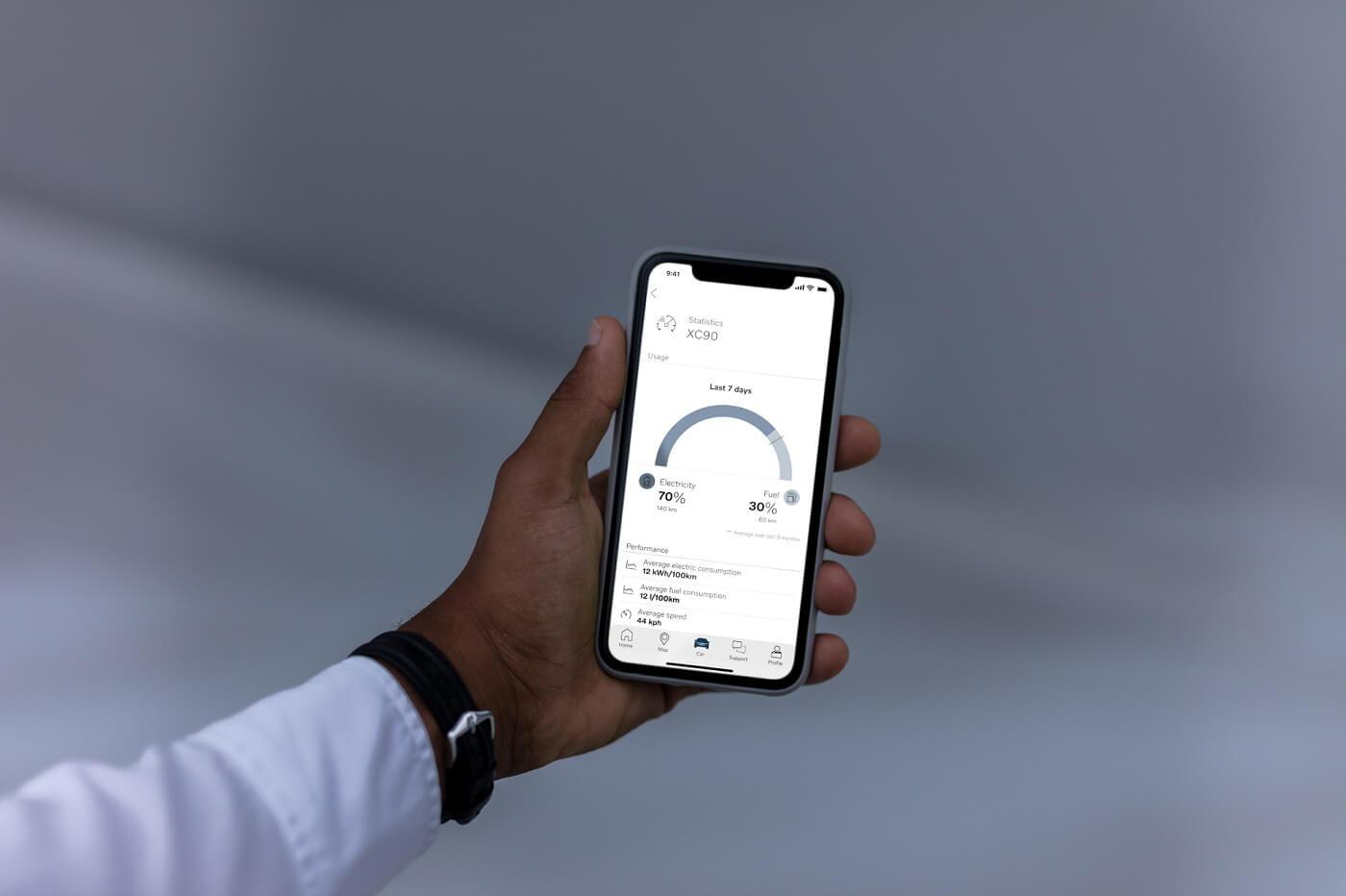 Вдосконалений додаток Volvo on Call:  водії отримають інформацію щодо витрат електроенергії, пального та викидів