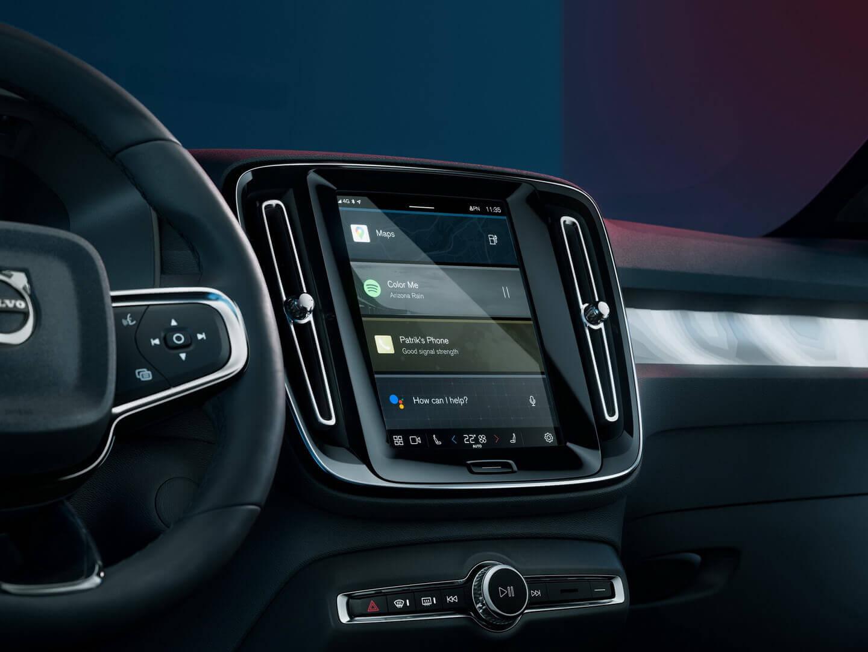 Volvo C40 Recharge поставляється з інформаційно-розважальною системою Google Android